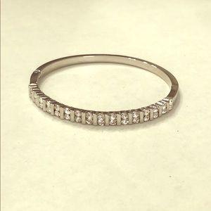 Silver Crystal Bangle